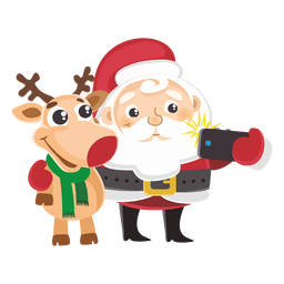 6f7bd1cf198eac4f74602613aa4c80e9-santa-reindeer-capturing-selfie